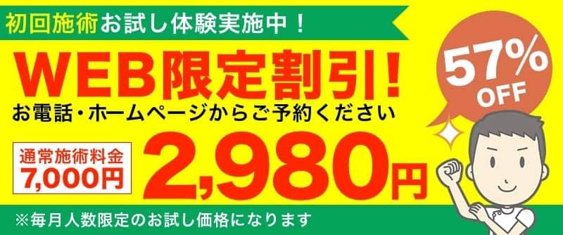WEB限定割引!2,980円